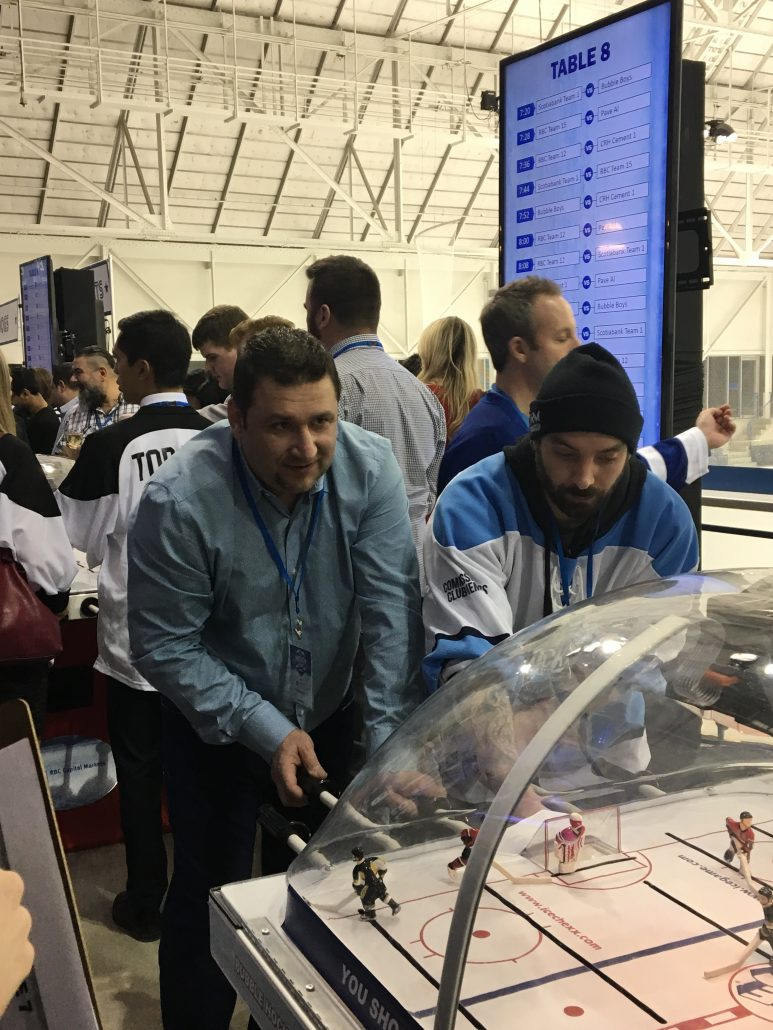 ORM Employees at the Bubble Hockey Tournament