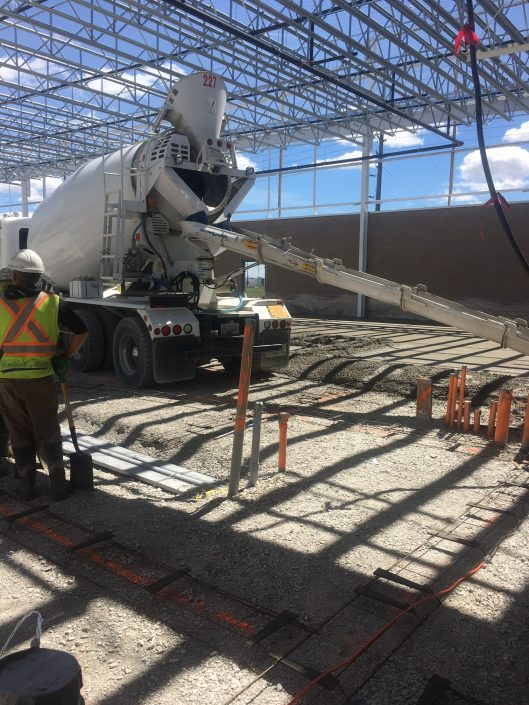 At the new Costco warehouse in Vaughan, ORM provided concrete for the floor