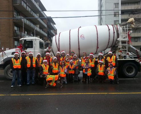 ORM supporting the Weston BIA Santa Clause parade