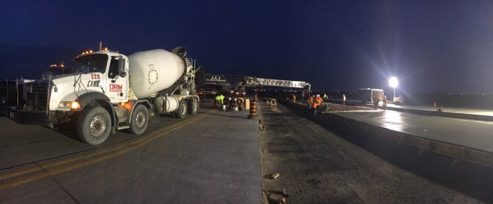 ORM supplied concrete for the 2017 Runway rehabilitation project at Toronto Pearson Airport